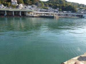 甲楽城漁港の様子