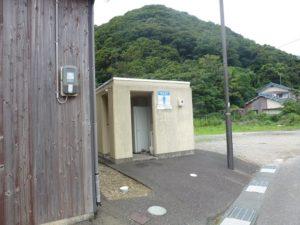 菅浜漁港のトイレ