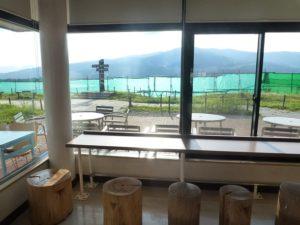 店内食事スペースからの眺め