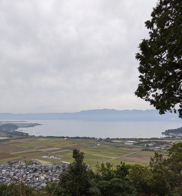 近江八幡「琵琶湖」西の丸址からの眺め