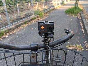 「APEMAN A66S」自転車アタッチメント前
