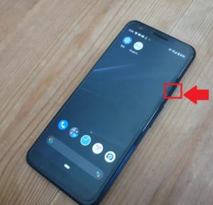 pixel3a「電源ボタン」