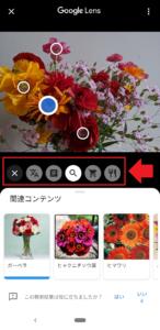 「Googleフォト」の「Googleレンズ」メニュー