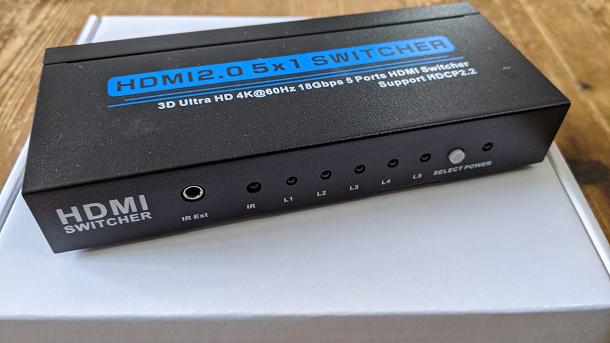 【MESEVEN】HDMI切替器5入力1出力