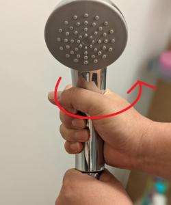 【シャワーヘッド交換】シャワーヘッドの取り外し