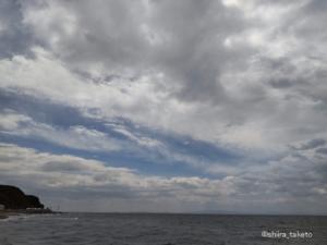 【AQUOS sense4 lite】曇り空と海