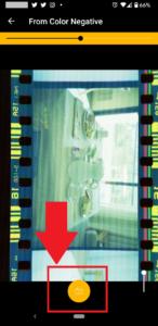 【KODAK Mobile Film Scanner】キャプチャーボタンを押下