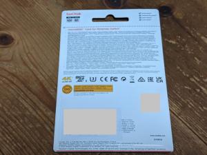 【ニンテンドースイッチ用SDカード】並行輸入品パッケージ裏側